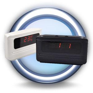 Reloj digital con c mara control remoto sensor de for Camara oculta en la oficina